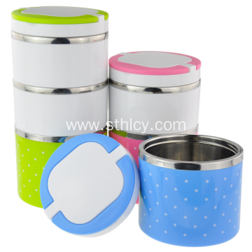 Color Dot Multilayer Sealed Food Container Stainless steel